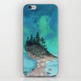 Watercolor Aurora Borealis iPhone Skin