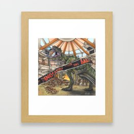 When Dinosaurs Ruled the Earth - Jurassic Park T-Rex Framed Art Print