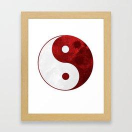 Red Yin Yang Symbol Framed Art Print