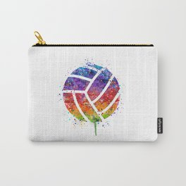 Volleyball Ball Colorful Watercolor Art Sports Gift Carry-All Pouch