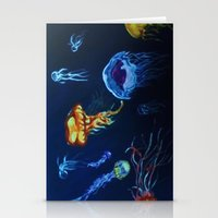 jelly fish Stationery Cards featuring Jelly-Jelly-Fish by Fknjedi1