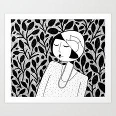 Ramona, lost in thought Art Print
