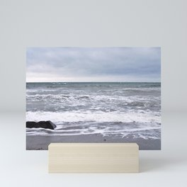 Cloudy Day on the Beach Mini Art Print