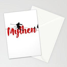 Ski at Mythen Stationery Cards