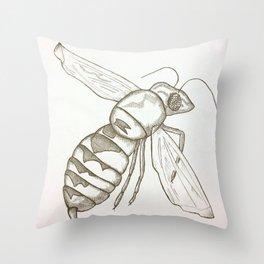 Buzzaround Throw Pillow