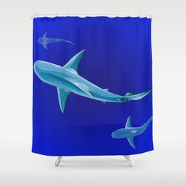 Grace in Endless Blue Shower Curtain