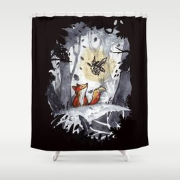 Fox and the Moth Shower Curtain