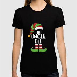 Christmas Family Matching -The Uncle Elf Xmas Gift T-shirt