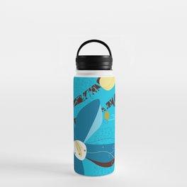 Blue Saucer Magnolia Water Bottle