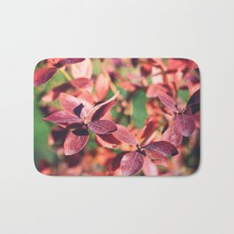 RED BLUEBERRY LEAVES Bath Mat