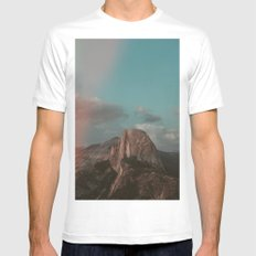 Yosemite Half Dome White MEDIUM Mens Fitted Tee