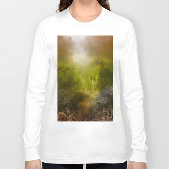 gold forest landscape Long Sleeve T-shirt