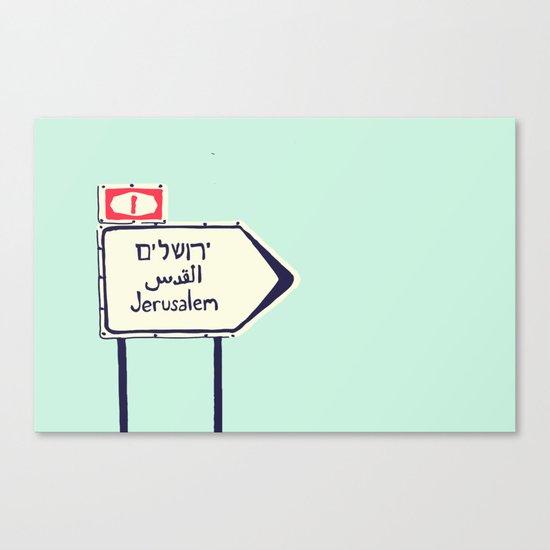 Jerusalem This Way Canvas Print