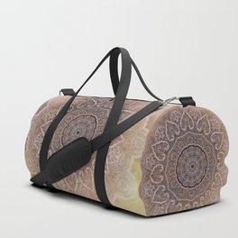 light yellow mandala of hearts Duffle Bag