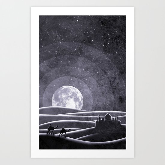 Desert Night Art Print