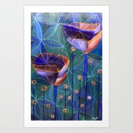Flowers of Life Art Print