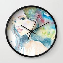 Rainbow Woman Wall Clock