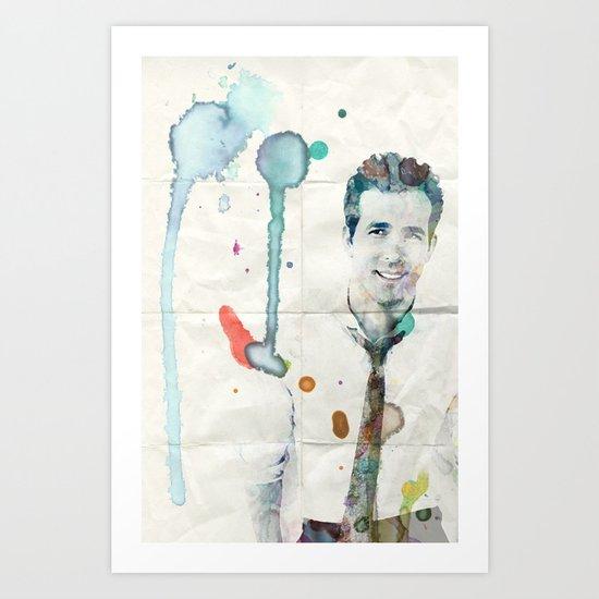 Ryan Reynolds Art Print