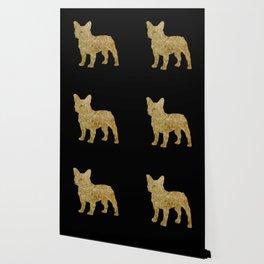 Golden Frenchie on black Wallpaper