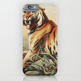 Royal bengal tiger from by John Karst (1836-1922) | Animal fine art. iPhone Case