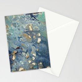 Intergalactic Fantasy - Mixed Media Painting - Abstract Art Stationery Cards