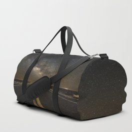 Go Beyond - Road Leads Into Milky Way Galaxy Duffle Bag