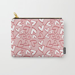 Love, Romance, Hearts - Red Pink White Carry-All Pouch