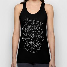 Abstraction Outline Black and White Unisex Tank Top