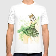 Little Queen Mens Fitted Tee White MEDIUM