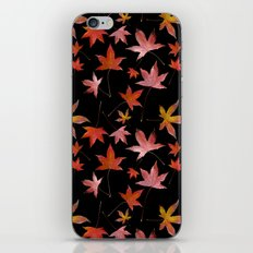 Dead Leaves over Black iPhone & iPod Skin