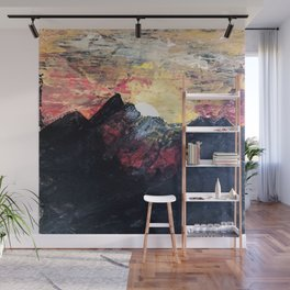 Arapahoe National Forest [2]: a colorful abstract mixed media mountain range Wall Mural