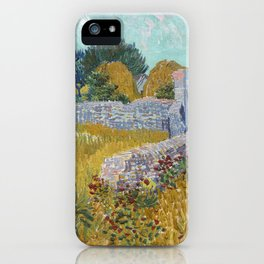 Vincent van Gogh Farmhouse in Provence 1888 Painting iPhone Case