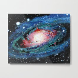 Andromeda Galaxy Painting Metal Print