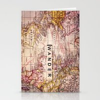 not all who wander Stationery Cards featuring wander by Sylvia Cook Photography
