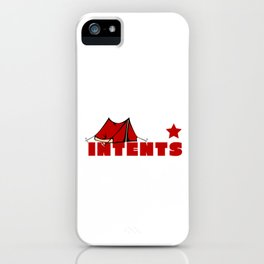 Camping Is Intents Funny Camper Camping Puns iPhone Case