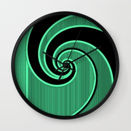 green wave Wall Clock