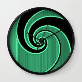 green wave Wall Clock