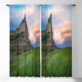Scottsbluff - Landscape in Evening Light in Western Nebraska Blackout Curtain