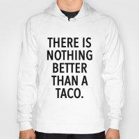 taco Hoodies featuring taco by ClicheZero