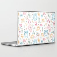 owls Laptop & iPad Skins featuring Owls by Kite-Kit
