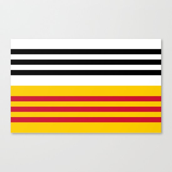 Flag of Loon op Zand Canvas Print