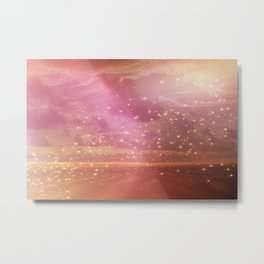 Ocean sunset glow Metal Print