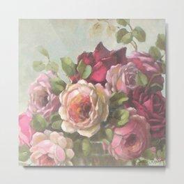 Heirloom Roses Metal Print