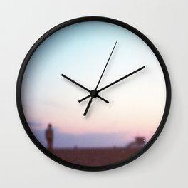 Santa Monica, CA. Gabe at Blurred Sunset. Wall Clock