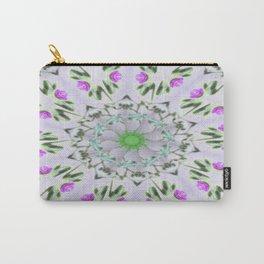 Purple Wildflower Kaleidoscope Art 7 Carry-All Pouch