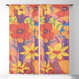 Sunshine and Wildflowers Blackout Curtain