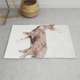 low poly deer polygonal art Rug