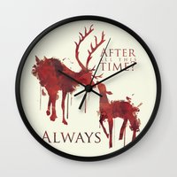 snape Wall Clocks featuring Always by Rose's Creation