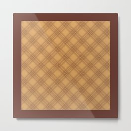 Pattern 008: Expanding Grid BN Metal Print