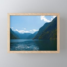Koenigssee Lake with Alpes Framed Mini Art Print